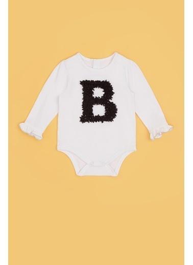 BG Baby Kız Bebek Beyaz Body 20Pfwbg2509 Beyaz